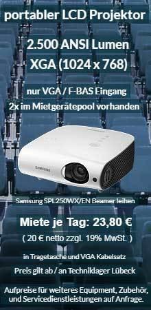 Angebot für den Ausleih eines Projektors Samsung XGA LCD Projektor SP L250W